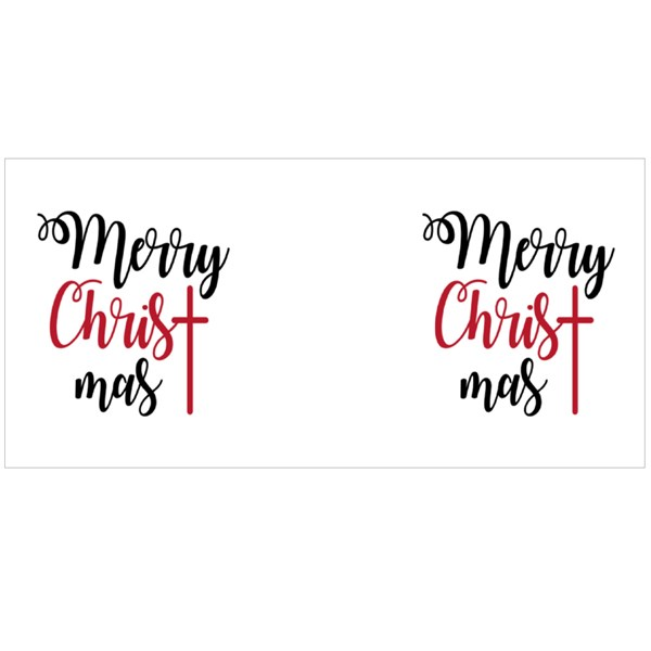 Merry Christmas Lettering Colour Mugs