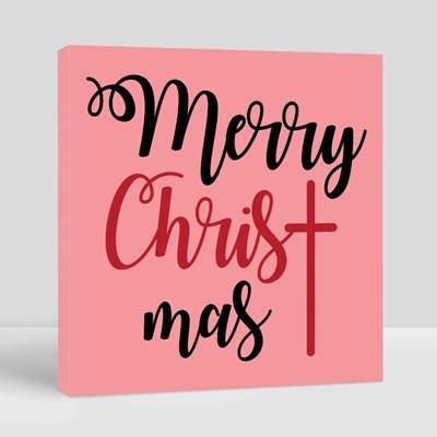 Merry Christmas Lettering Canvas (Square)