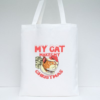 My Cat Makes My Christmas Tote Bags