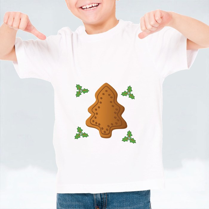 Christmas Tree, Gingerbread T-Shirts (Kid)