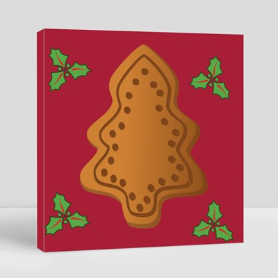 Christmas Tree, Gingerbread Canvas (Square)