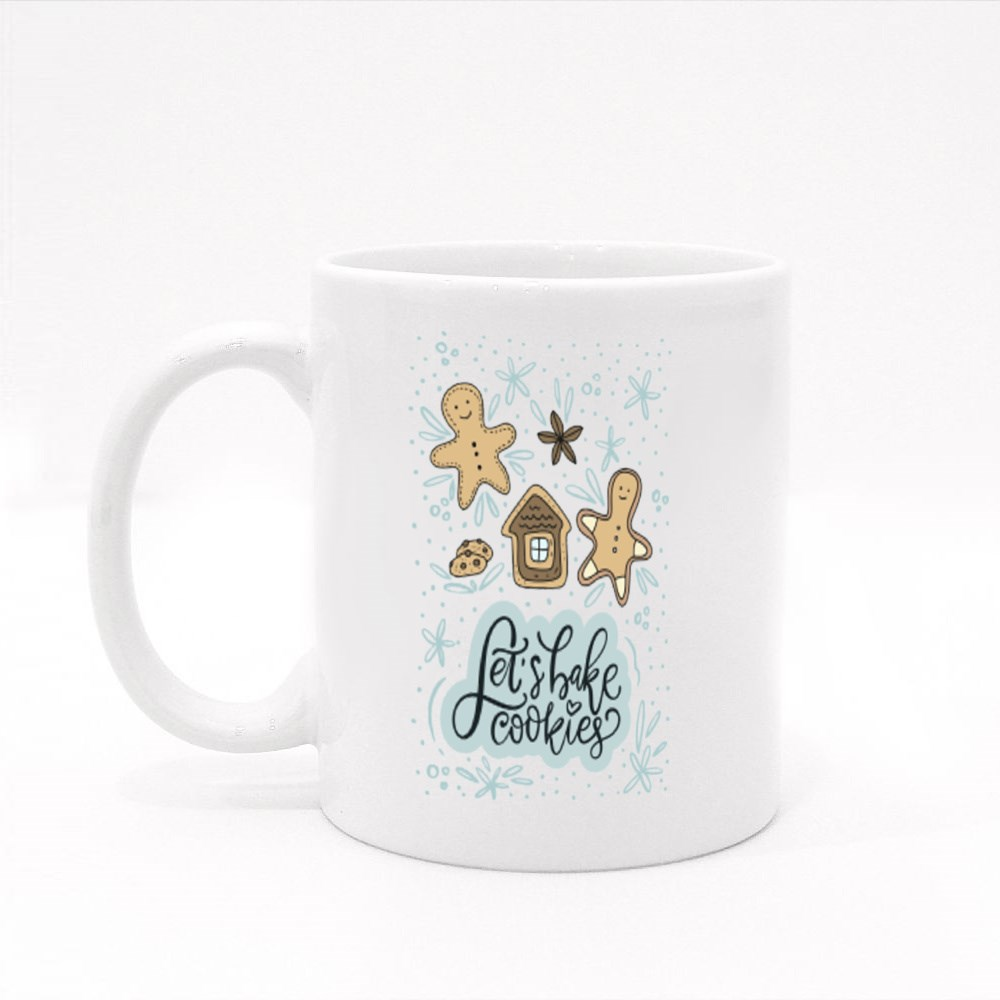Let's Bake Cookies and Gingerbread Man Colour Mugs