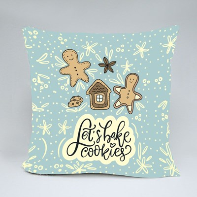 Let's Bake Cookies and Gingerbread Man Throw Pillows