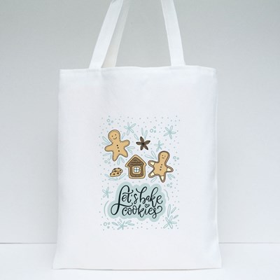 Let's Bake Cookies and Gingerbread Man Tote Bags