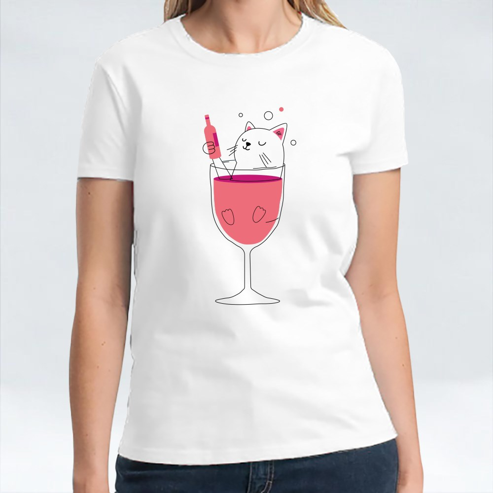Cat in Wine T-Shirts