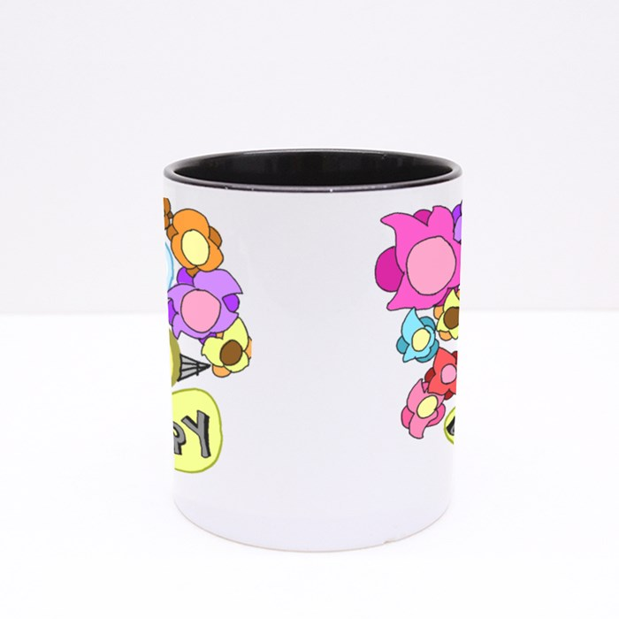 Bee Happy 01 Colour Mugs