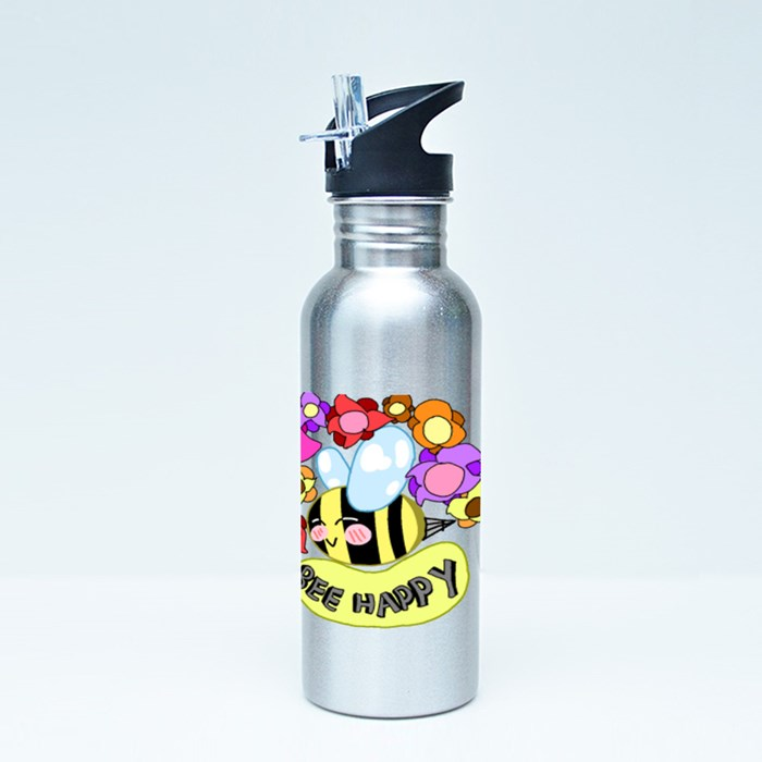 Bee Happy 01 Sport Flasks
