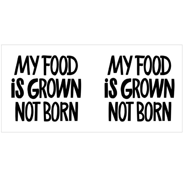 My Food Is Grown Not Born Colour Mugs