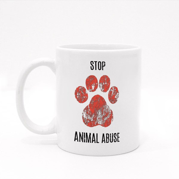 Paws , Stop Animal Abuse Colour Mugs