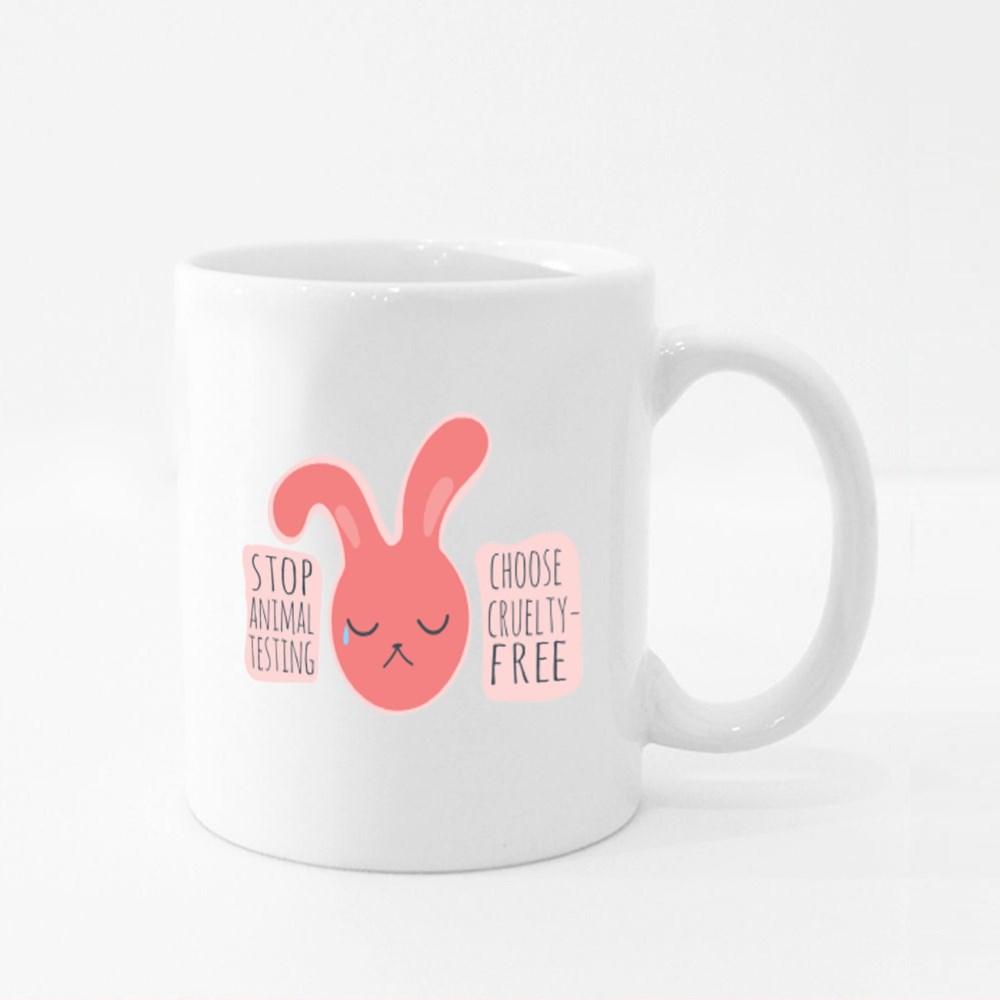 Stop Animal Testing , Choose Cruelty-Free Colour Mugs