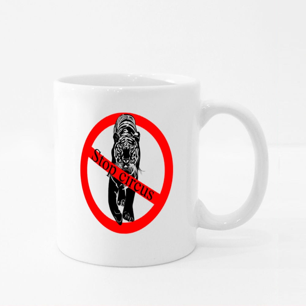 Stop Circus Prohibition Sign Colour Mugs
