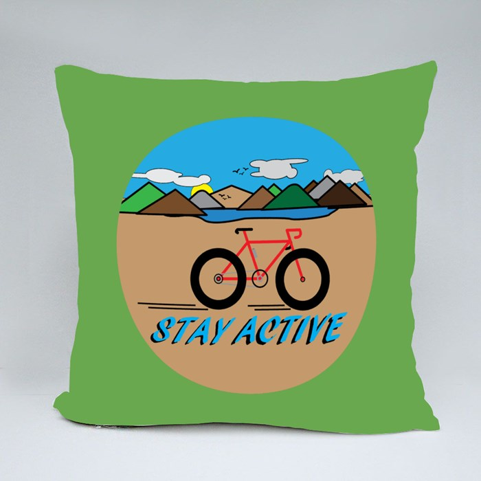 Stay Active With Countryside Landscape. Throw Pillows