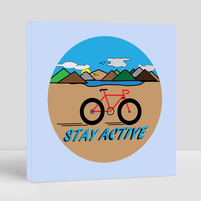 Stay Active With Countryside Landscape. Canvas (Square)