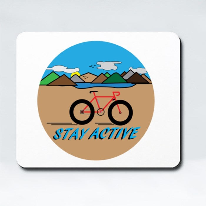 Stay Active With Countryside Landscape. Mousepads (Rectangle)