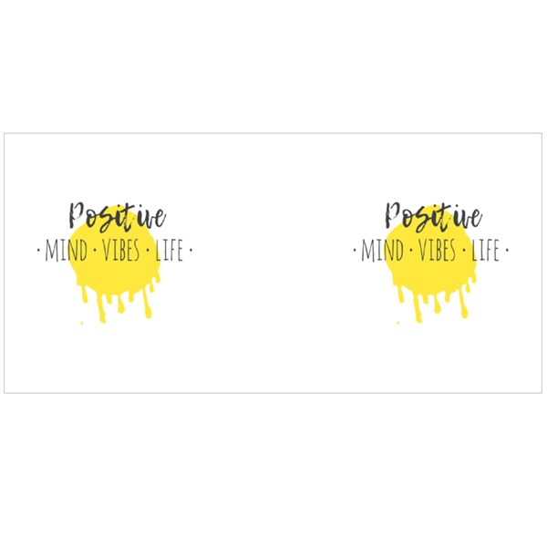 Positive Mind Vibes Life Quote Colour Mugs