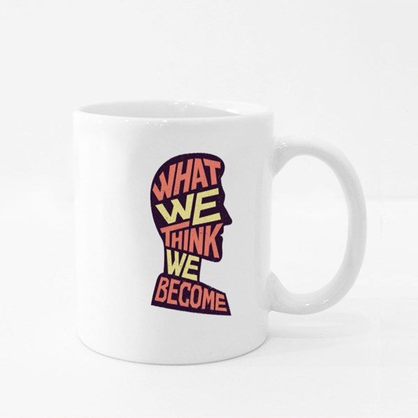 What We Think We Become Colour Mugs