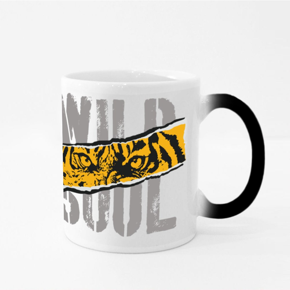 Tiger. Wild  Roar Tiger. College Typography Graphic. Magic Mugs