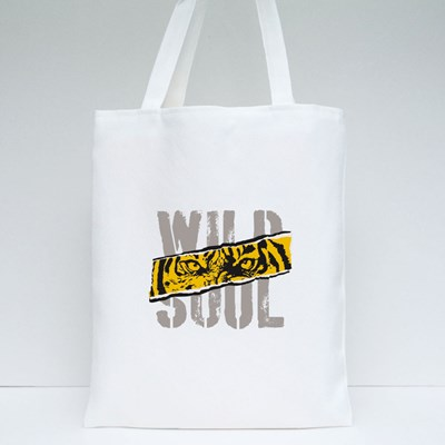 Tiger. Wild  Roar Tiger. College Typography Graphic. Tote Bags