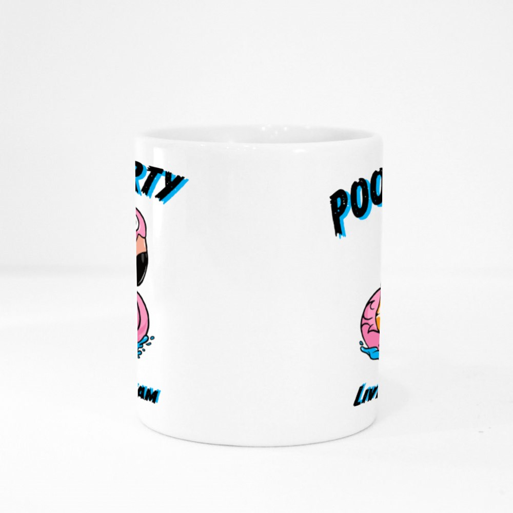 Tiger Cartoon With Typography Colour Mugs