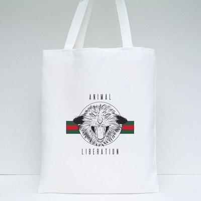 Animal Liberation , a Furious Cat Tote Bags