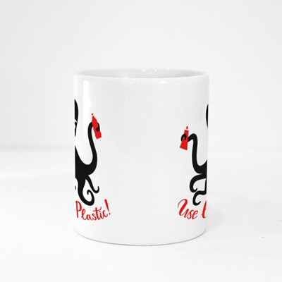 Octopus Holding Red Plastic Things Magic Mugs