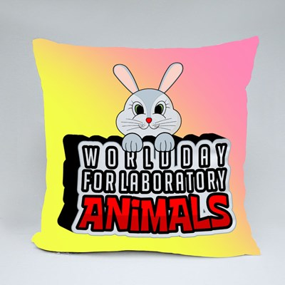 World Day for Laboratory Animals Throw Pillows