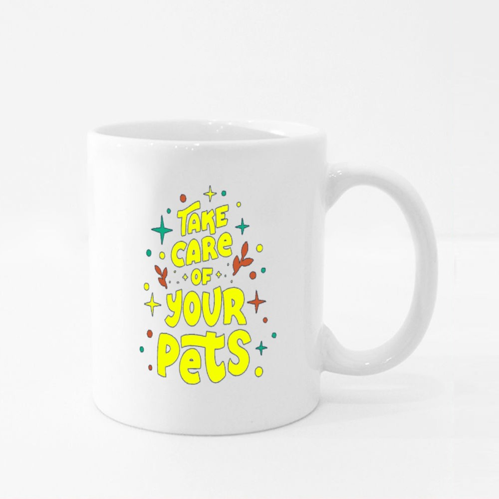 Take Care of Your Pets Colour Mugs