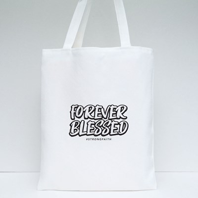Forever Blessed Brush Style Tshirt Tote Bags