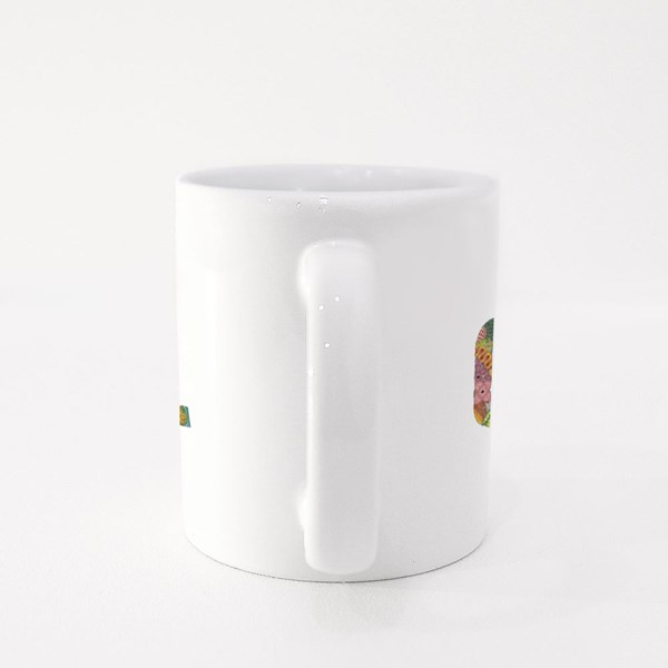 Grateful Wording With Falling Leaves Colour Mugs
