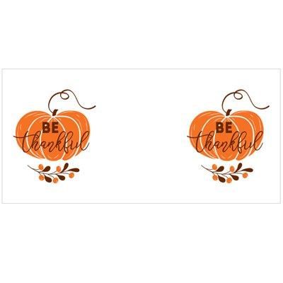 Be Thankful Text Decorated Fall Branch With Berry on Pumpkin Magic Mugs