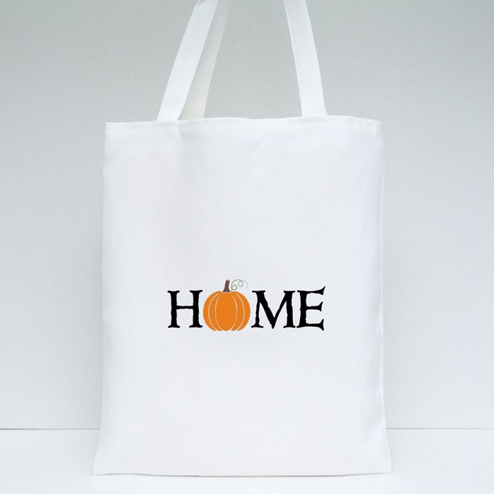 Home Autumn Pumpkin for Halloween Tote Bags
