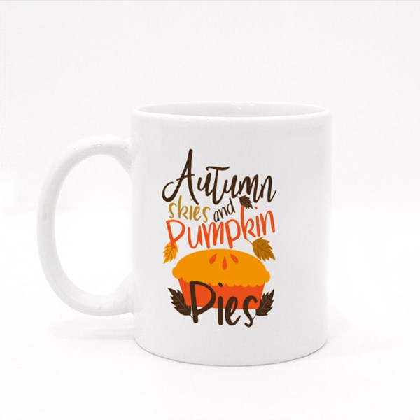 Autumn Skies and Pumpkin Pies Colour Mugs