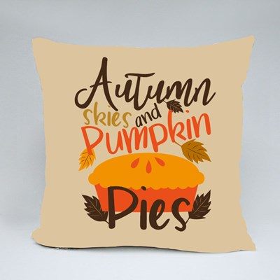 Autumn Skies and Pumpkin Pies Throw Pillows