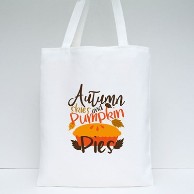Autumn Skies and Pumpkin Pies Tote Bags
