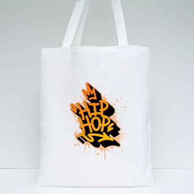 Hip Hop Tag Graffiti Style Label Lettering. Tote Bags
