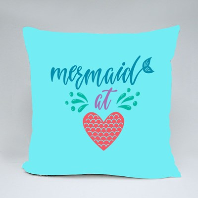 Mermaid at Heart Summer Throw Pillows