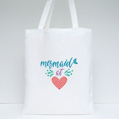 Mermaid at Heart Summer Tote Bags