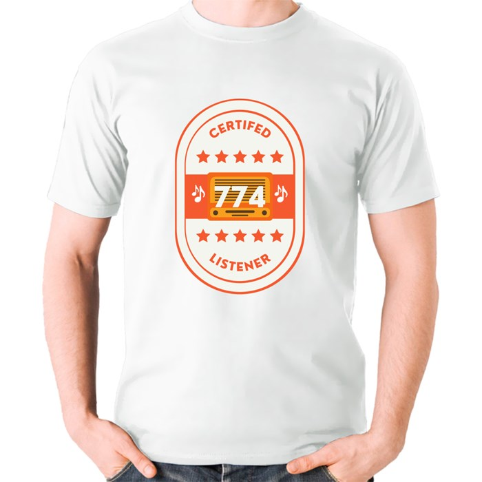 Certified 774 Listener T-Shirts (Front & Back)