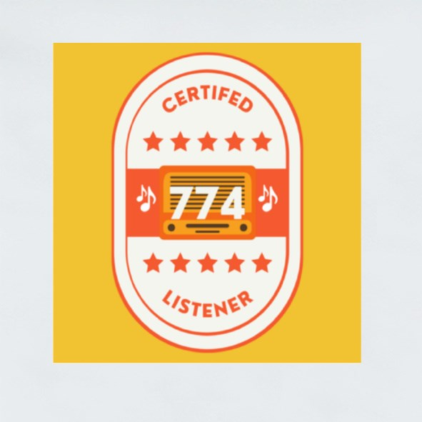 Certified 774 Listener Stickers (Square)