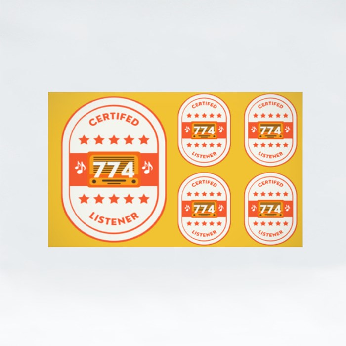 Certified 774 Listener Stickers (Rectangle)