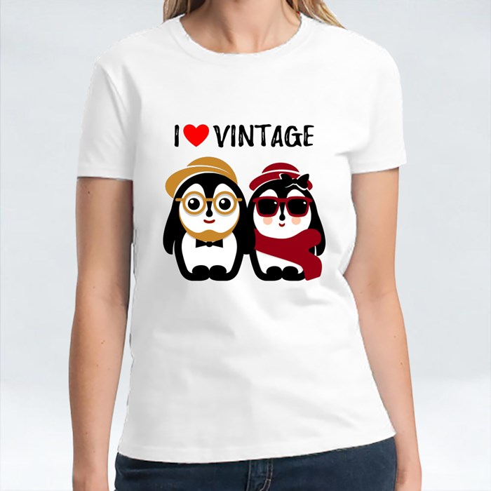 Cute Male and Female Penguin T-Shirts