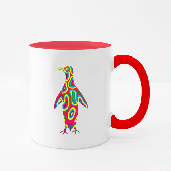 Penguin Abstract Colorfully Colour Mugs