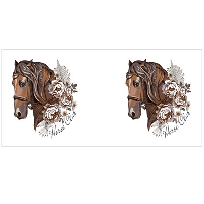 Brown Horse With Peony Flowers Magic Mugs