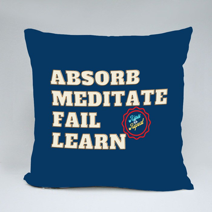 Absorb, Meditate, Fail, Learn. Rinse and Repeat A. Throw Pillows