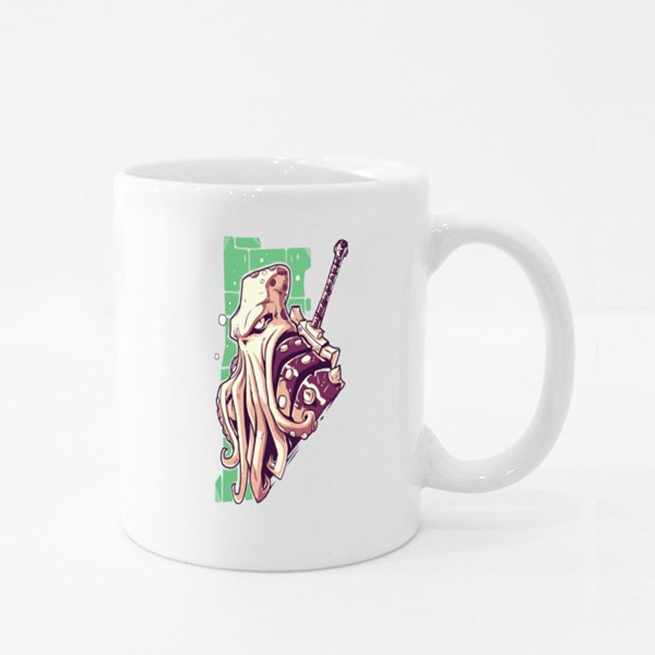 Monster Octopus Cartoon Colour Mugs