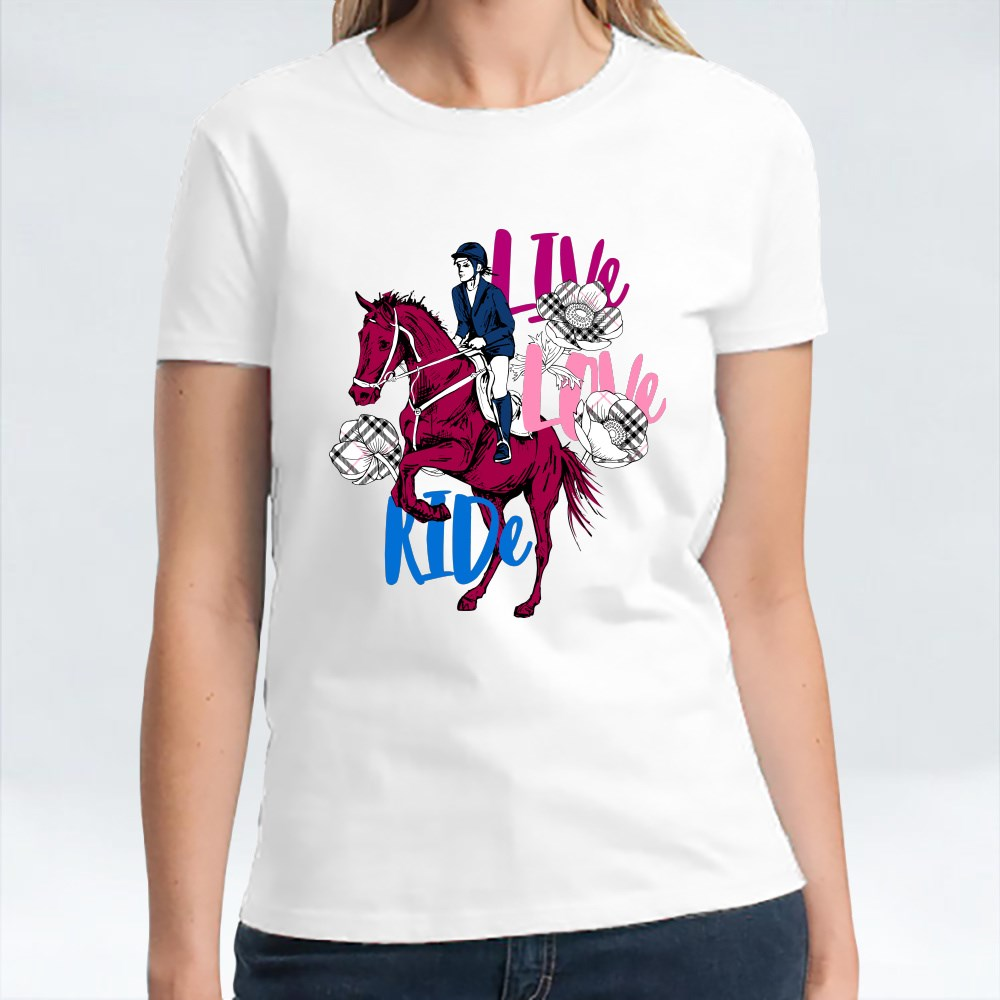 Live Love Ride the Galloping Horse T-Shirts