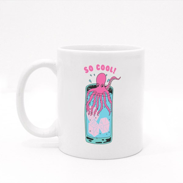 Cute Octopus in Cool Water Colour Mugs
