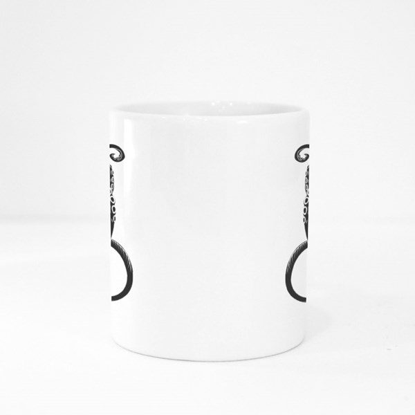 Cartoon Octopus With Tentacles Colour Mugs