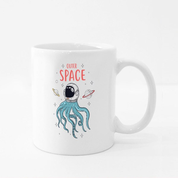 Astronaut Octopus in Space Colour Mugs