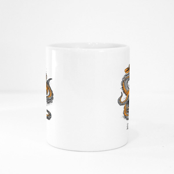Octopus Wrapped Around a Dart Board Colour Mugs
